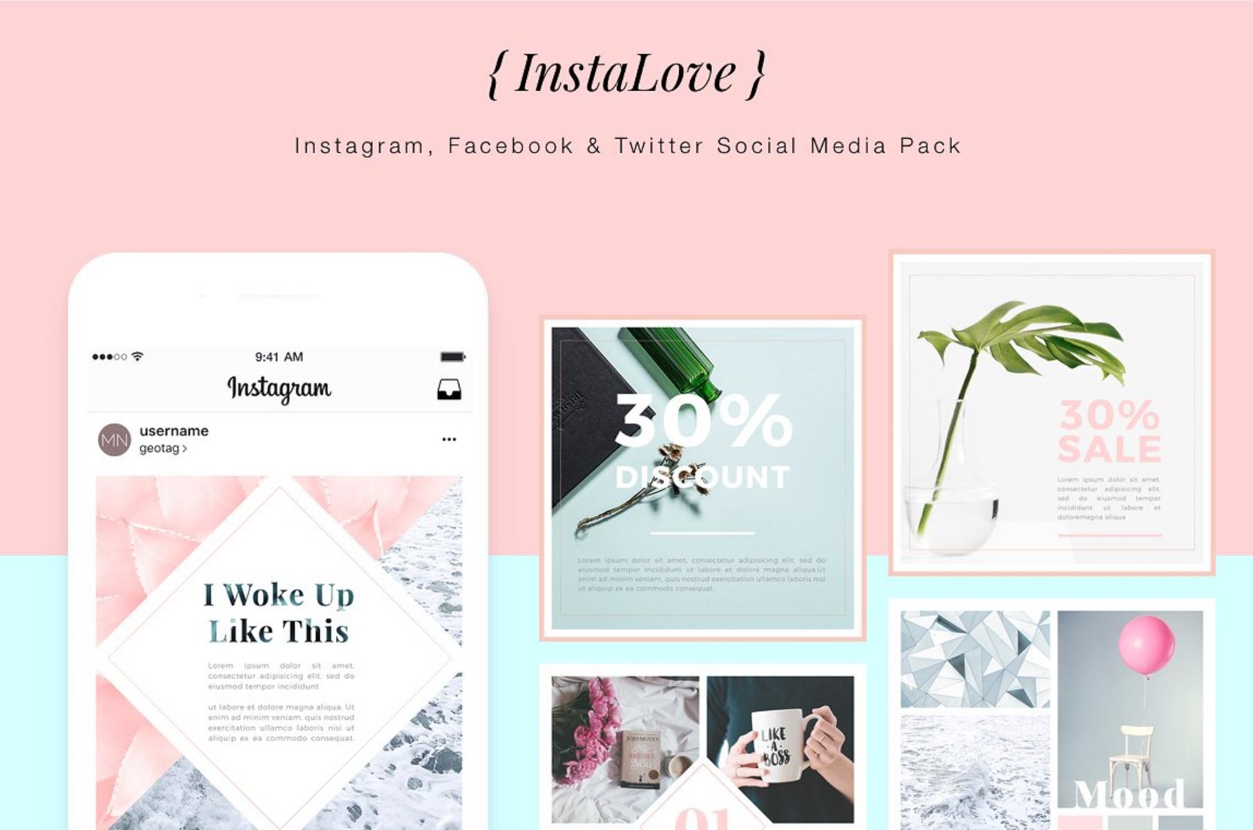 For Bloggers Instagram Social Media Facebook Graphics Mock Up Minimalism Graphic Design Inspiration Layout Marketing Creative Marketvasaresocial